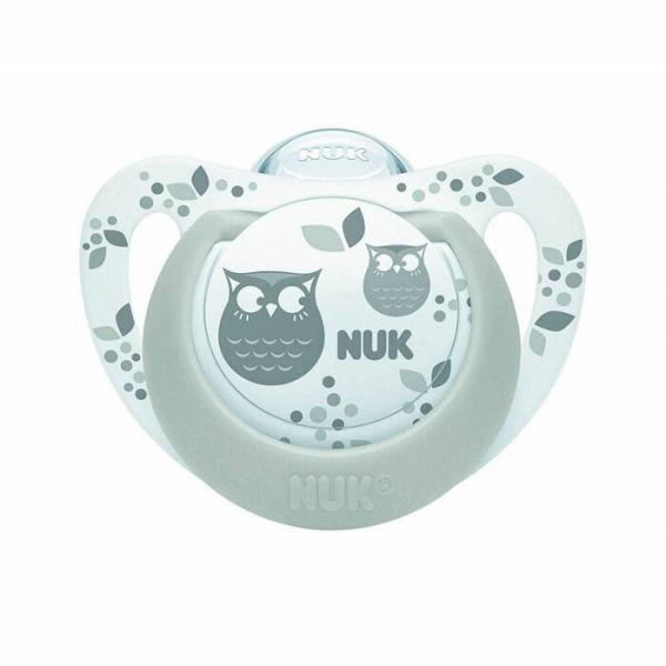 NUK(ヌーク) おしゃぶりジーニアス(消毒ケース付)/0-6カ月/フクロウ