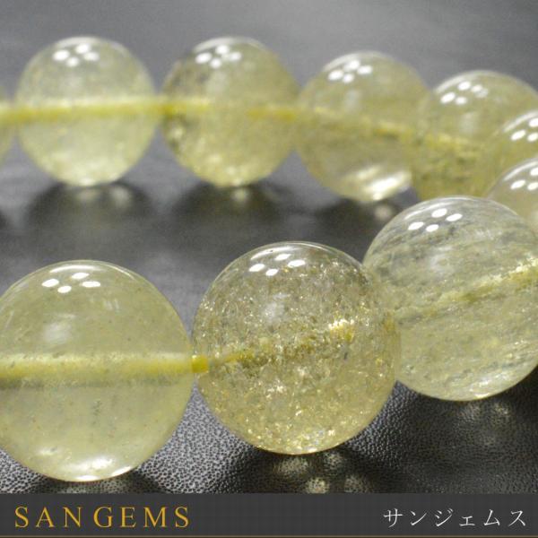 リビアンデザートグラスAAAA ブレスレット内径約18cmラウンド14~14.5mm 一点物 隕石からできた天然ガラス 高品質天然石・パワーストーン