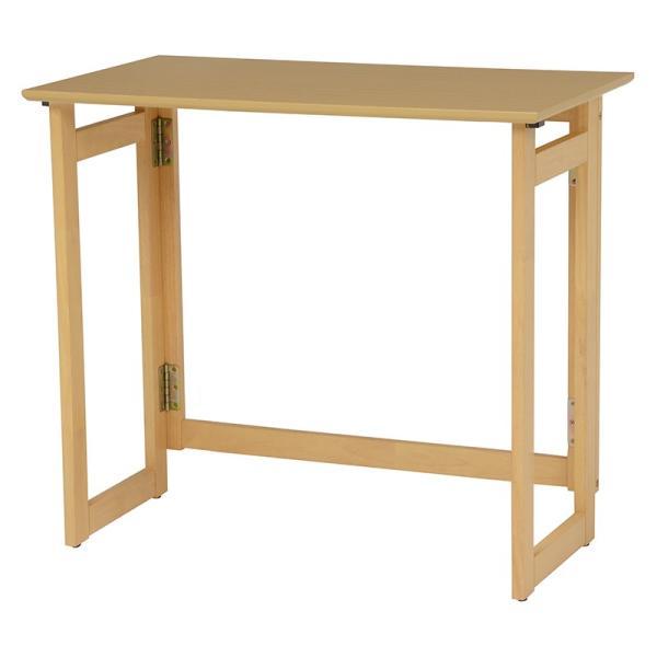 折りたたみテーブル 幅80 ベージュ テーブル 奥行40 高さ71 折畳み ナチュラル 木目 デスク 折り畳み 木製 おりたたみ キャスター 作業台
