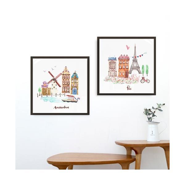 アート ポスター インテリア 額縁 モダン おしゃれ おしゃれなアートフレーム デザイン 北欧 高級感 アルミ製フレーム付 シティー・ランドマーク 277×277|sangsanghoo-jp|03
