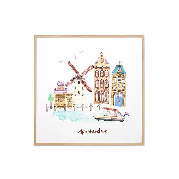 アート ポスター インテリア 額縁 モダン おしゃれ おしゃれなアートフレーム デザイン 北欧 高級感 アルミ製フレーム付 シティー・ランドマーク 277×277|sangsanghoo-jp|04