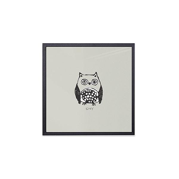 アート ポスター インテリア デザイン おしゃれなアートフレーム おしゃれ 額縁 高級感 北欧 モダン アルミ製フレーム付 ほうほう友達 277×277|sangsanghoo-jp|05