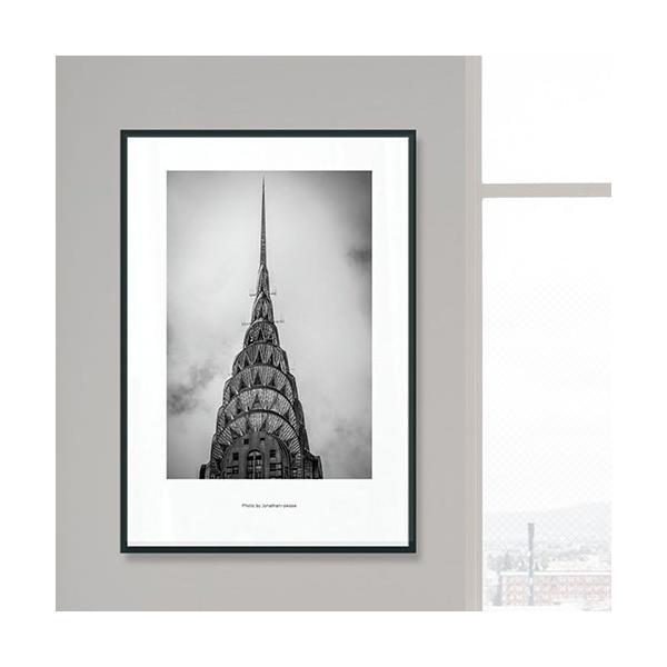 アート ポスター インテリア おしゃれ 額縁 モダン デザイン 北欧 高級感 特大 アルミ製フレーム付 エンパイアブランノアール 452×649|sangsanghoo-jp