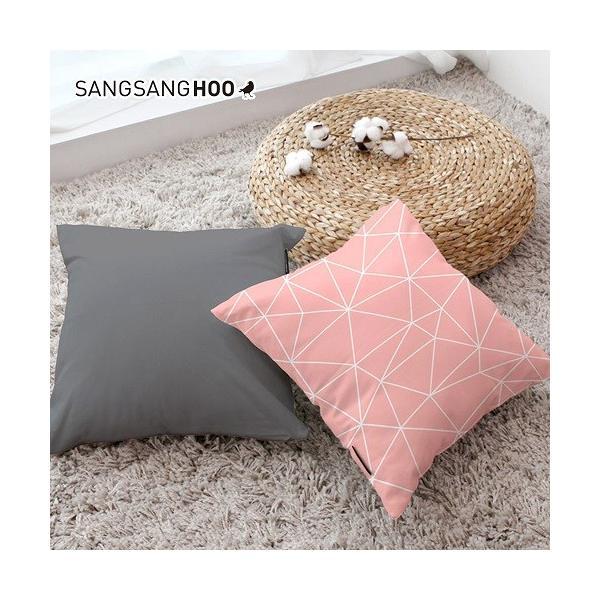 クッションカバー おしゃれ 洗える 北欧 45×45cm クッション ピンク グレー 北欧 ピンクコレクション|sangsanghoo-jp|05