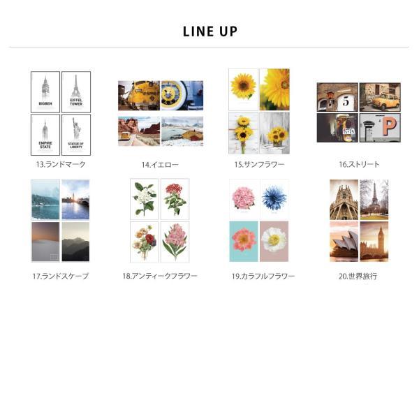 ポスター アートポスター おしゃれ インテリアポスター フォトポスター A3 4枚セット北欧 モダン 植物 選べる12種類 29.7x42cm フレームなし|sangsanghoo-jp|03