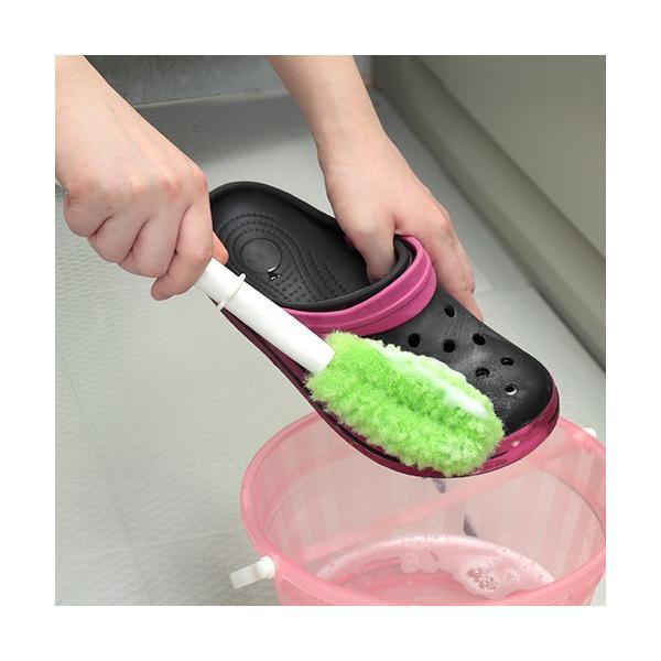 ピカピカシューズクリーナー 靴洗いブラシ 生地を痛めにくい びっくりフレッシュ サンコー|sanko-online|02