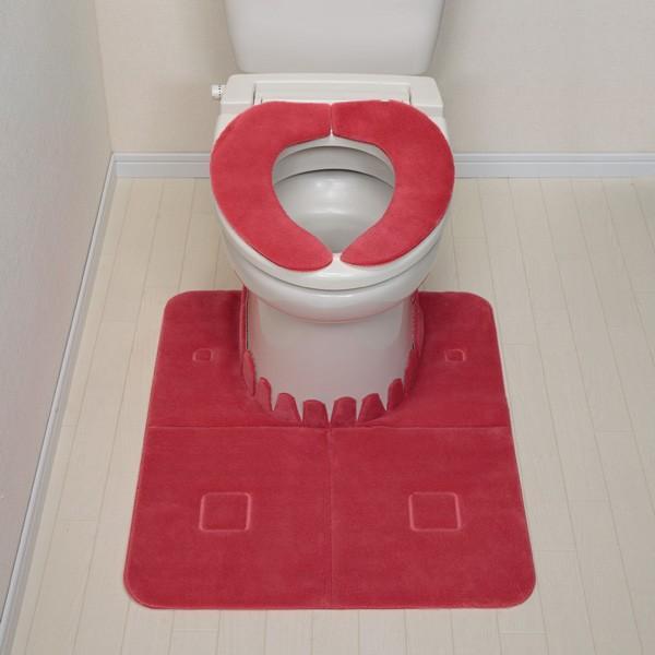 トイレマット HOKAテックベンザシート 単品 洗える 洗濯 ふんわり 暖かい アンモニア臭 消臭 日本製 おくだけ吸着 サンコー|sanko-online|05