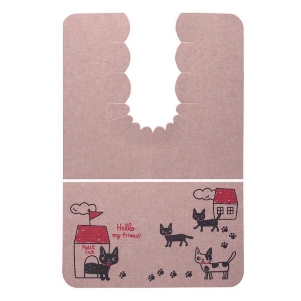 トイレマット おしゃれ ネコ ふける 撥水 洗濯 ロング 日本製 おくなが 洗える おくだけ吸着 サンコー ずれない 消臭|sanko-online|07