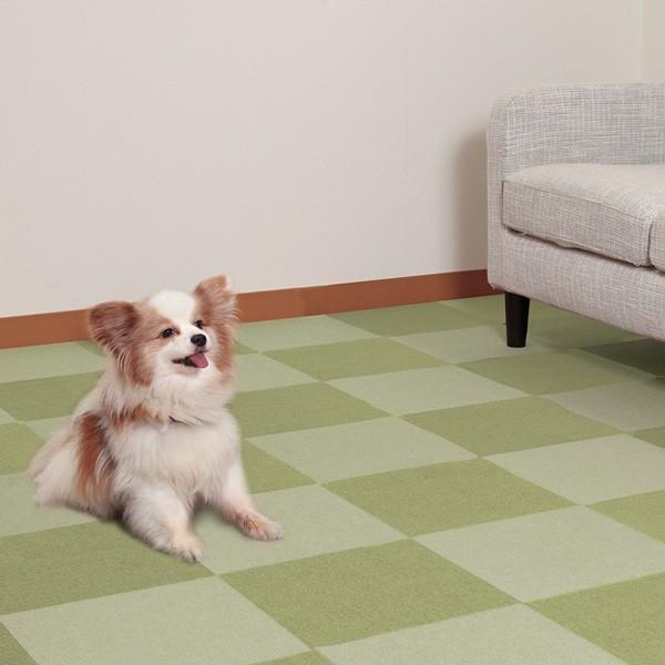 タイルマット タイルカーペット おしゃれ 床暖房対応 おくだけタイルマット 濃淡100枚組  25×25cm おくだけ吸着 サンコー 日本製 sanko-online 07
