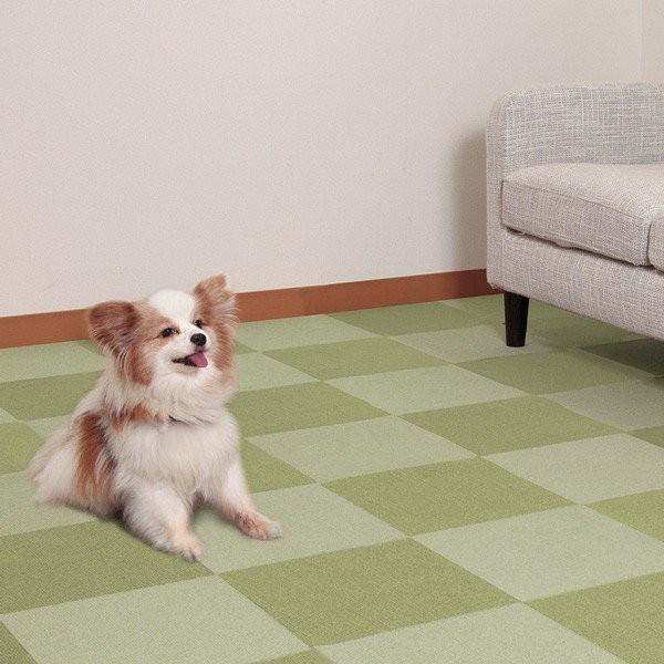 タイルマット タイルカーペット 吸着 床暖房対応 バリアフリータイルマット 20枚 2色組 30×30cm おくだけ吸着 サンコー ずれない sanko-online 16