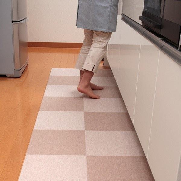 タイルマット タイルカーペット 吸着 床暖房対応 バリアフリータイルマット 20枚 2色組 30×30cm おくだけ吸着 サンコー ずれない sanko-online 17