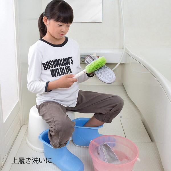 靴洗いブラシ びっくりシューズ洗い 上履き くつ 運動靴 スニーカー 上靴 子供 洗剤なし 水だけ 日本製 びっくりフレッシュ サンコー|sanko-online|05
