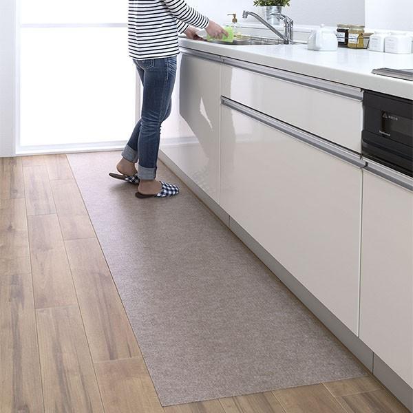 キッチンマット 拭ける 180 滑り止め 撥水 日本 おしゃれ 北欧 吸着拭けるキッチンマット 60×180cm おくだけ吸着 サンコー|sanko-online|09