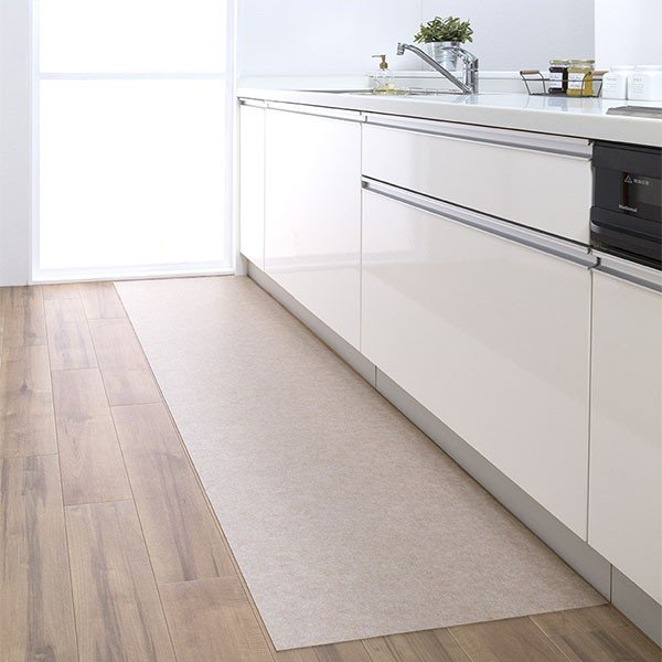 キッチンマット 拭ける 180 滑り止め 撥水 日本 おしゃれ 北欧 吸着拭けるキッチンマット 60×180cm おくだけ吸着 サンコー|sanko-online|08