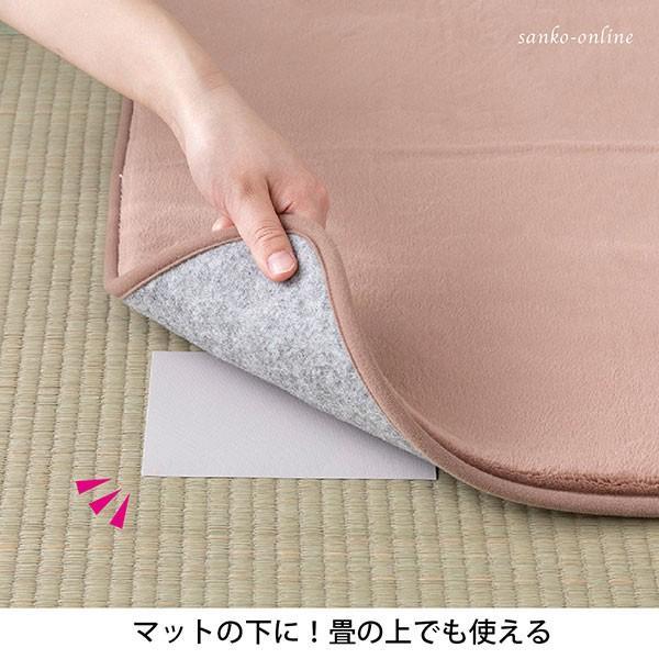 ペット用畳・ラグの上でもズレないシート 3枚入 滑り止め 動かない シート 薄い  ベッド 繰り返し ズレない おくだけ吸着 サンコー|sanko-online|04