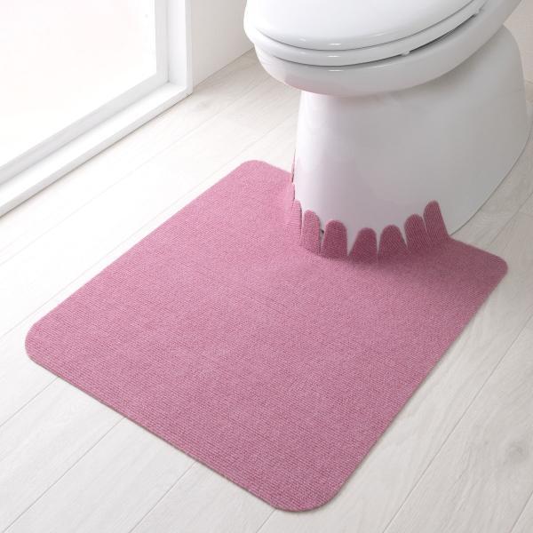 トイレマット ずれない 滑り止め おしゃれ 洗える 洗濯 消臭 無地 日本製 おくだけ吸着 55×60cm サンコー|sanko-online|02