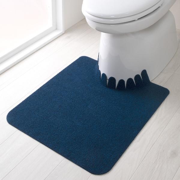 トイレマット ずれない 滑り止め おしゃれ 洗える 洗濯 消臭 無地 日本製 おくだけ吸着 55×60cm サンコー|sanko-online|04