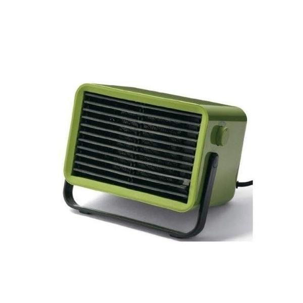 IDEA LABEL コンパクトセラミックファンヒーター Bucket2 グリーン LOE021-GR