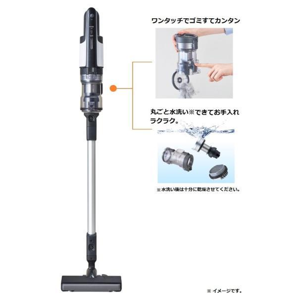 パナソニック(Panasonic) サイクロン式 スティッククリーナー パワーコードレス MC-VGS8000-W (ホワイト)|sanmaruroku|02