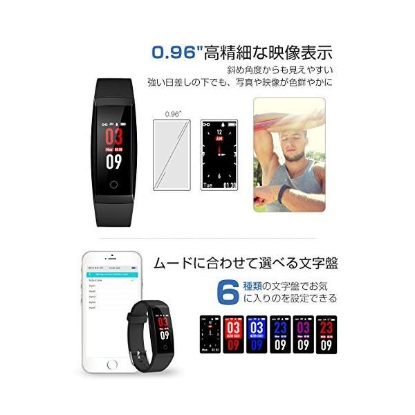 スマートウォッチ 血圧計 心拍計 歩数計 itDEAL  IP67防水  日本語対応 iPhone/iOS/Android対応 2018最新版 (ブラック)