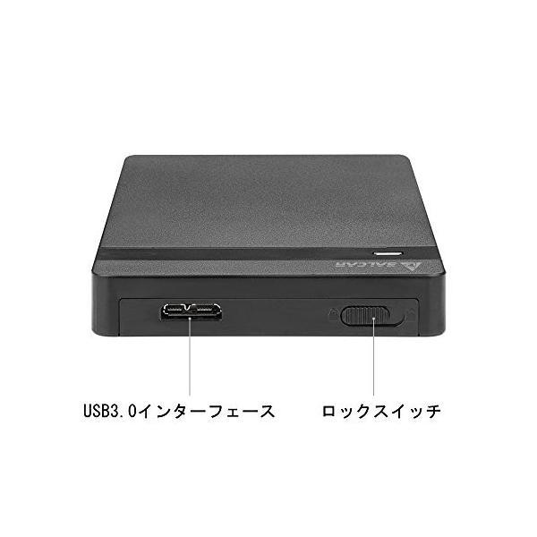 Salcar USB3.0 2.5インチ HDD/SSDケース sata接続 9.5mm/7mm厚両対応 UASP対応 簡単脱着 5Gbps|sanosyoten|08