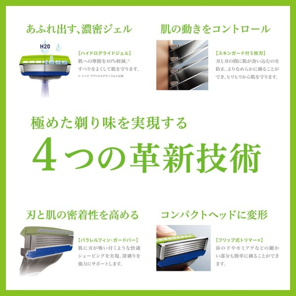 シック Schick 5枚刃 ハイドロ5 プレミアム ホルダー 敏感肌用 お試し用 替刃 1コ付 男性カミソリ 定番|sanosyoten|05