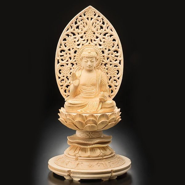 KW-1158 薬師如来坐像 葉 偉混 作 木彫り 仏像 :150683483:三宝堂Yahoo ...