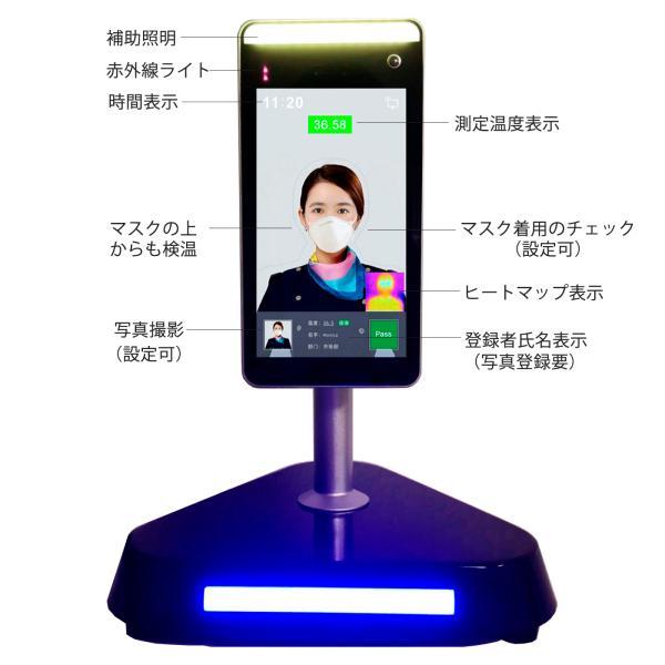 在庫あり AI検温 顔認証 体温測定 自動記録 タブレット 検温カメラ 非接触 サーマルカメラ FACEMO 入場者の検温スクリーニング 工事不要 在庫即納 一年間保証|sanricorp|02