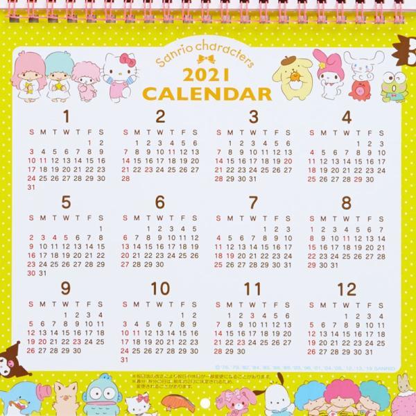 サンリオキャラクターズ ウォールカレンダーM(リボン) 2020|sanrio|08