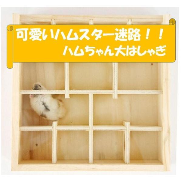 ハムスター迷路おもちゃ天然木製ハムちゃん大はしゃぎ