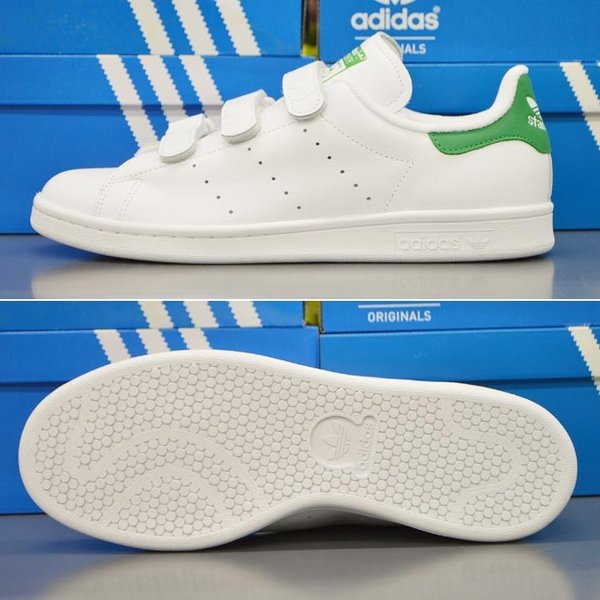 アディダス スタンスミス ベルクロ メンズ スニーカー adidas STAN SMITH CF S75187 靴 シューズ オリジナルス ORIGINALS ホワイト×グリーン|sansei-s-style|02