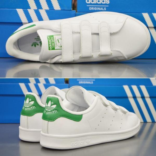 アディダス スタンスミス ベルクロ メンズ スニーカー adidas STAN SMITH CF S75187 靴 シューズ オリジナルス ORIGINALS ホワイト×グリーン|sansei-s-style|03