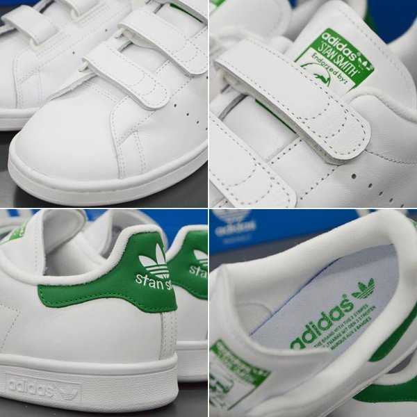 アディダス スタンスミス ベルクロ メンズ スニーカー adidas STAN SMITH CF S75187 靴 シューズ オリジナルス ORIGINALS ホワイト×グリーン|sansei-s-style|04