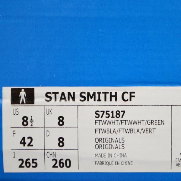 アディダス スタンスミス ベルクロ メンズ スニーカー adidas STAN SMITH CF S75187 靴 シューズ オリジナルス ORIGINALS ホワイト×グリーン|sansei-s-style|05