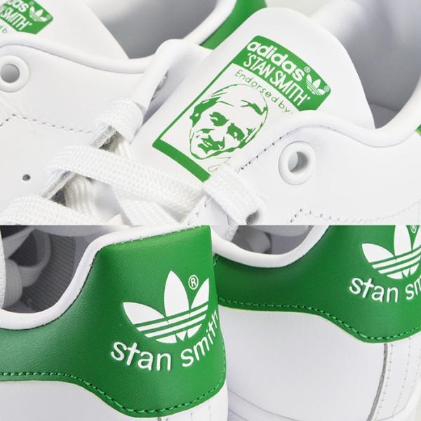 アディダス スタンスミス スニーカー メンズ レディース ホワイト グリーン adidas STAN SMITH シューズ 靴 M20324|sansei-s-style|04