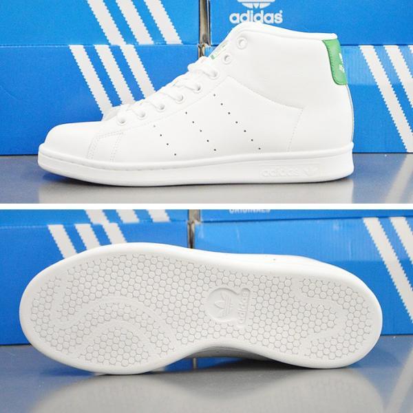 アディダス スタンスミス ミッドカット スニーカー adidas STAN SMITH MID BB0069 靴 シューズ ホワイト×グリーン アディダス スタンスミス|sansei-s-style|02