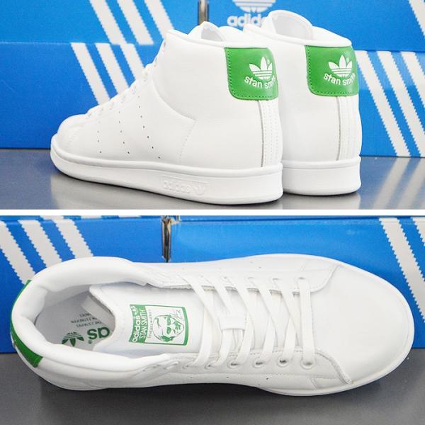 アディダス スタンスミス ミッドカット スニーカー adidas STAN SMITH MID BB0069 靴 シューズ ホワイト×グリーン アディダス スタンスミス|sansei-s-style|03