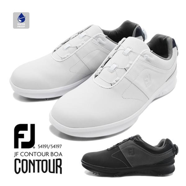 FootJoyFJフットジョイCONTOURBOAコンツアーゴルフメンズ男性紳士スパイク靴防水スニーカーダイヤルシューズ5419