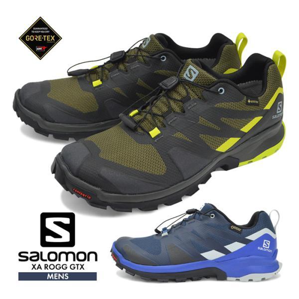 サロモンシューズメンズ靴SALOMON登山靴防水トレッキングアウトドアスニーカーXAROGGGTXゴアテックスキャンプトレイルラ