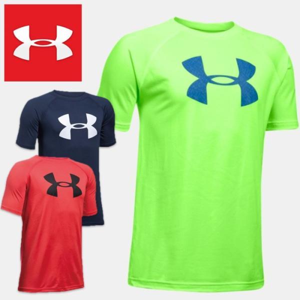 アンダーアーマーTシャツ半袖ジュニアキッズUNDERARMOURTechBigLogoBoysShortSleeveShirt1