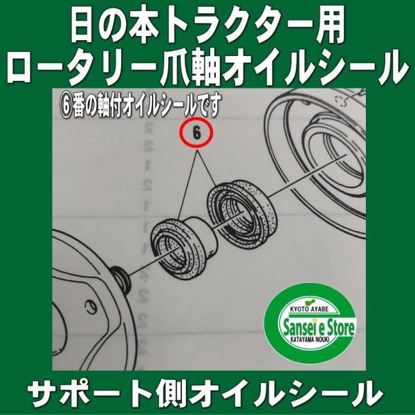 日の本(日立)  ロータリー 爪軸 日立サポート側 の軸付オイルシール(適合機種:BS145等)