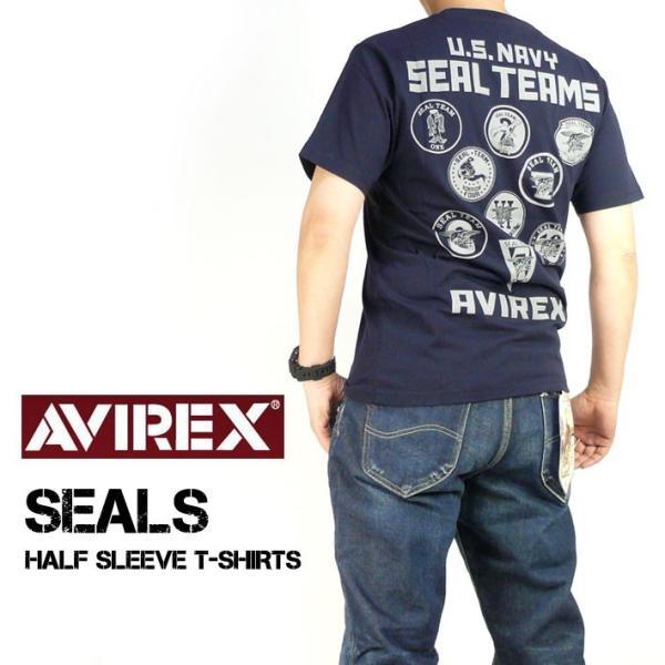 AVIREX アビレックス シール チーム プリント半袖Tシャツ  SEAL TEAMS ネイビーシールズ ミリタリー メンズ 6193382|sanshin|08