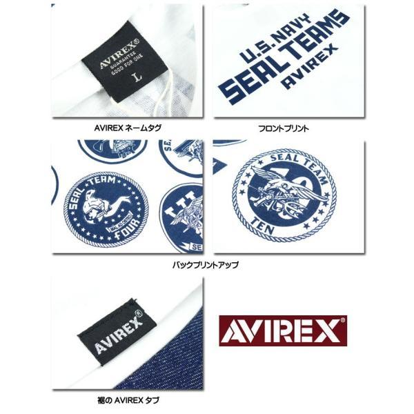 AVIREX アビレックス シール チーム プリント半袖Tシャツ  SEAL TEAMS ネイビーシールズ ミリタリー メンズ 6193382|sanshin|10