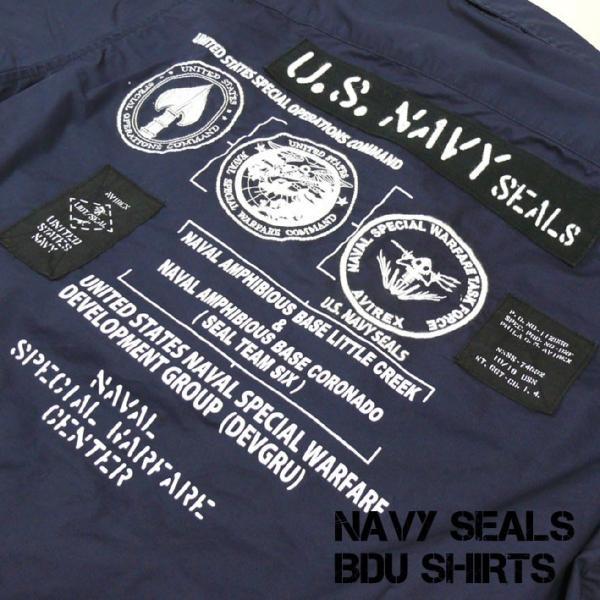 AVIREX アビレックス BDU シャツ メンズ NAVY SEALS BDU SHIRTS ネービーシールズ シャツジャケット 6195094