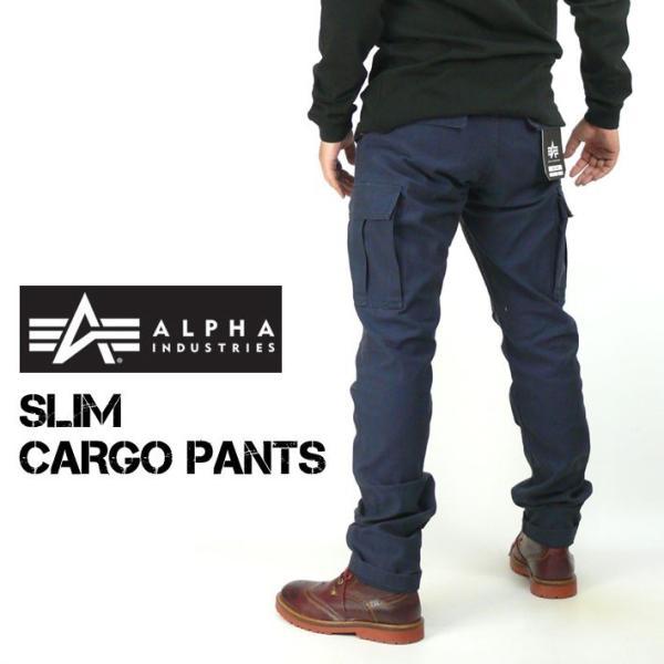 ALPHA アルファ メンズ カーゴパンツ スリムカーゴパンツ コットンバックサテン ミリタリーパンツ TB1016|sanshin|09