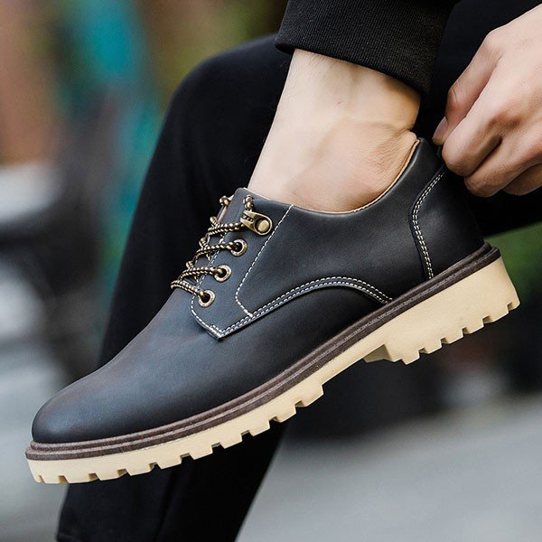 オックスフォードシューズ メンズ 合成革靴 プレーントゥ カジュアル おしゃれ 紳士 冬|sansuiya|05