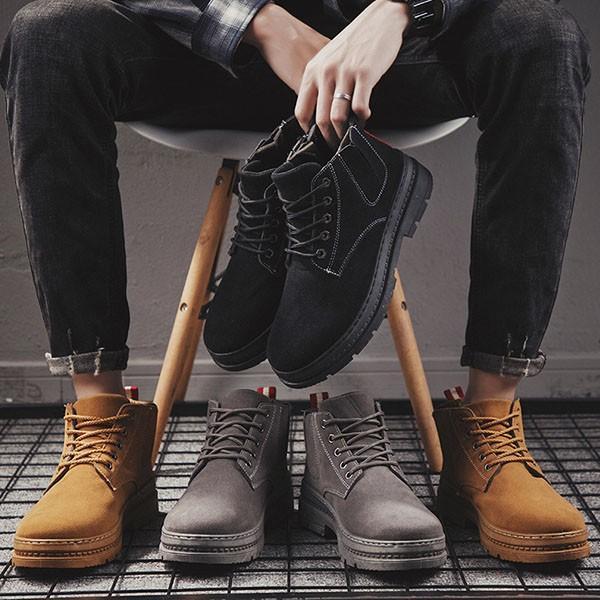 チャッカブーツ メンズ 合成革靴 ワーク サイドゴア スエード カジュアルシューズ おしゃれ 紳士 冬 sansuiya 05