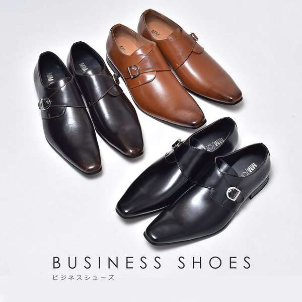 ビジネスシューズ メンズ 合成革靴 モンクストラップ ローファー プレーントゥ スリッポン 紳士 おしゃれ 春|sansuiya|02