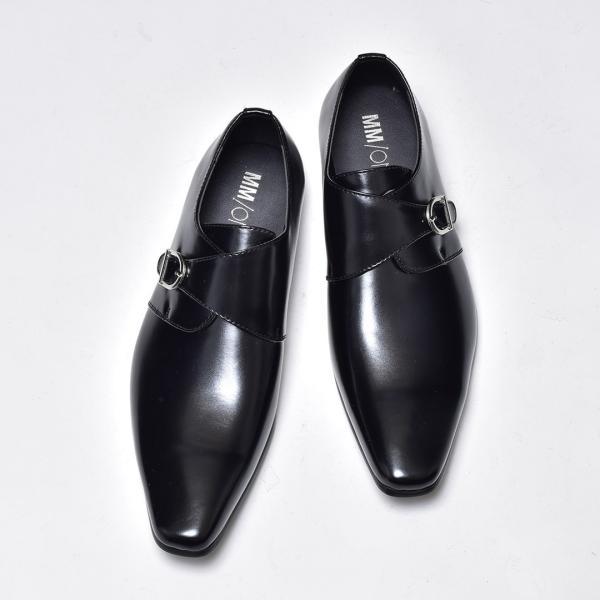 ビジネスシューズ メンズ 合成革靴 モンクストラップ ローファー プレーントゥ スリッポン 紳士 おしゃれ 春|sansuiya|04