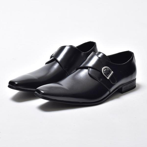 ビジネスシューズ メンズ 合成革靴 モンクストラップ ローファー プレーントゥ スリッポン 紳士 おしゃれ 春|sansuiya|05